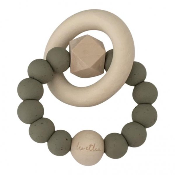 Hexa Baby Teether, Shell Collection, Dusty Sage