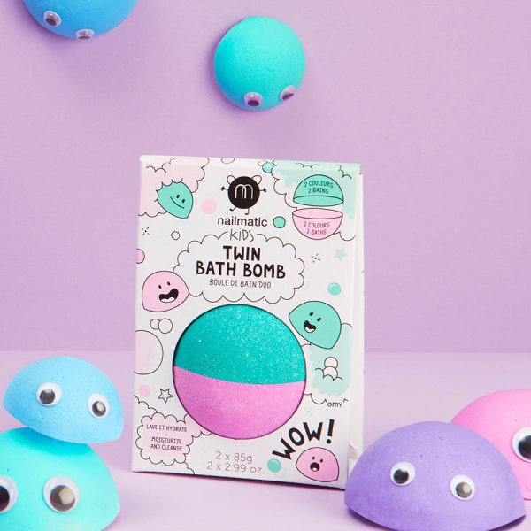 BOULES DE BAIN ROSE ET VERT LAGON / PINK AND LAGOON GREEN BATH BOMB WITH PACK