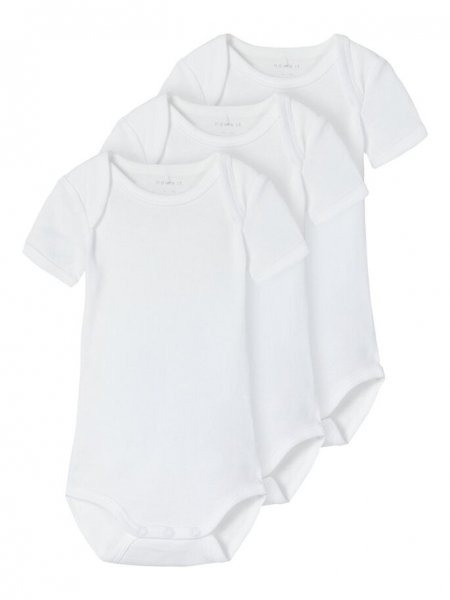 Name It NBNBODY 3 STÜCK SS SOLID WHITE 2 NOOS