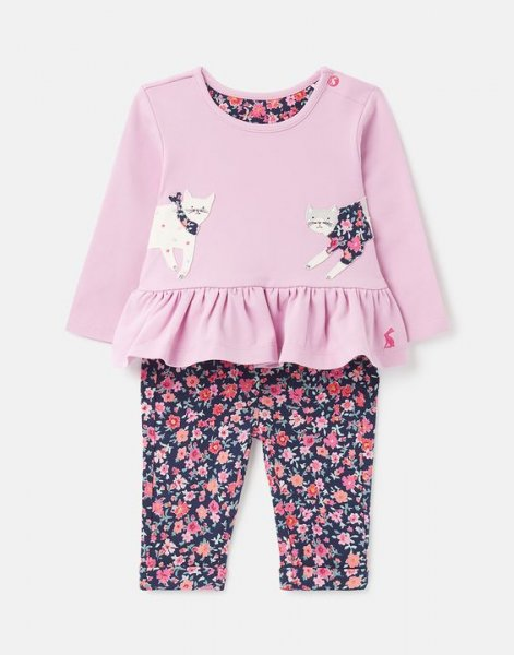 Tom Joule - Olivia - Organically Grown Cotton Jersey Top And Trouser Set 0-24 Months