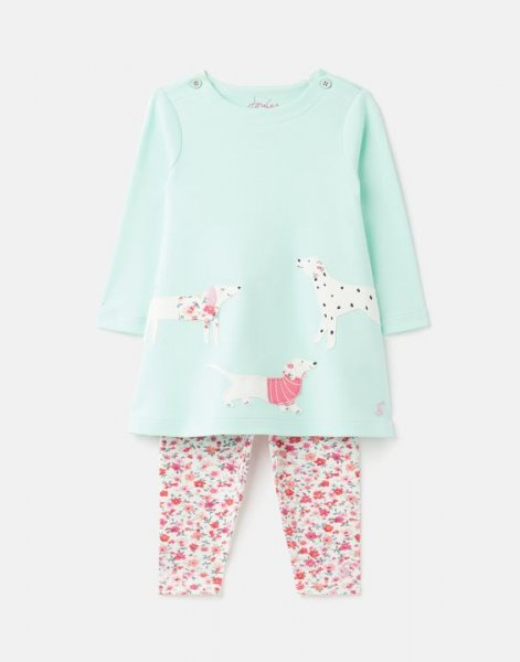 Tom Joule - Artwork Christina - Organically Grown Cotton Dress And Legging Set Up To 1 Mnth- 24 Mnths