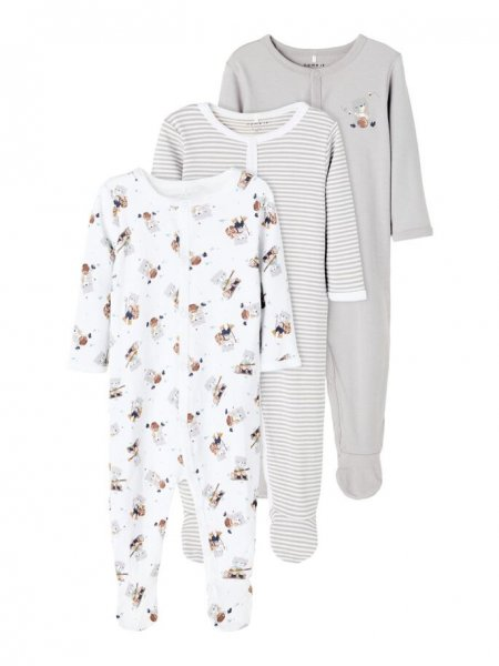 Name It NBnNIGHTSUIT 3P W/F ALLOY BEAR NOOS